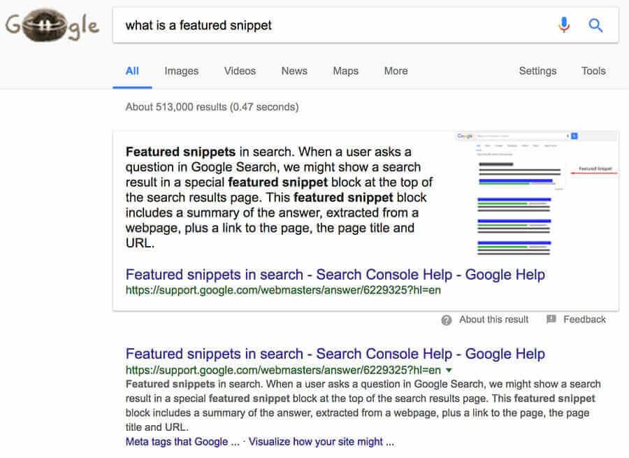2017 研究顯示:Google 精選摘要會對排名產生負面影響