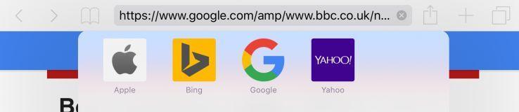 下面是iPhone 6是從AMP旋轉木馬搜索訪問的文章的截圖。