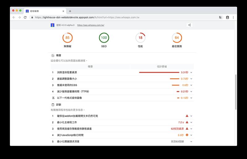 WEB.DEV - Google SEO 工具,分析網站各項數據並教你如何優化網站 3