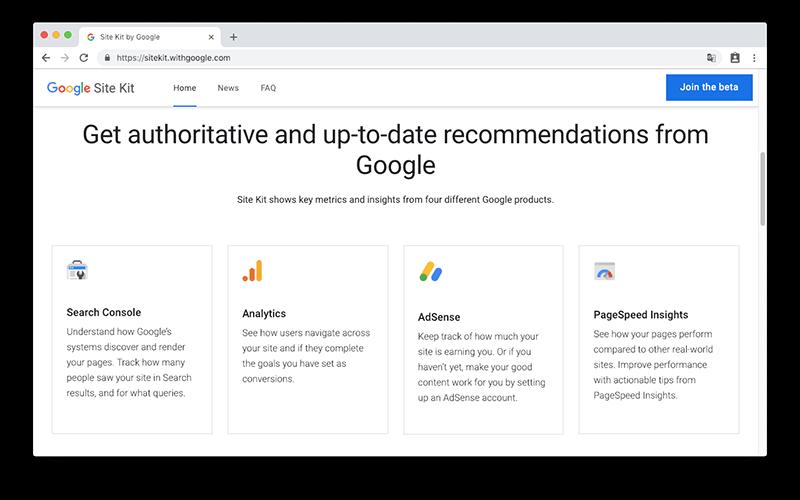Site Kit by Google 4 大功能